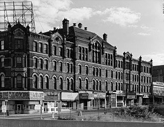 National Register of Historic Places listings in Fall River, Massachusetts - Image: Academy Building FR1979