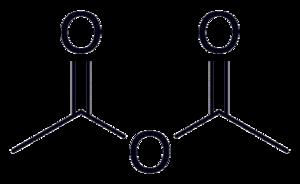 Organic acid anhydride - Image: Acetic anhydride 2D skeletal