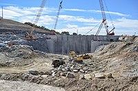 Addicks and Barker dams project team visits Folsom Dam auxiliary spillway (15094937269).jpg