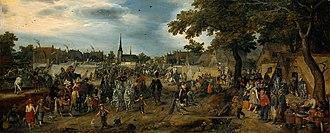 Horse fair - Image: Adriaen Pietersz. van de Venne 002