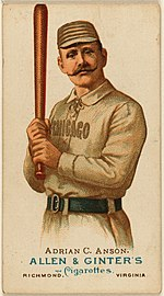"Adrian ""Cap"" Anson, first baseman, Chicago White Stockings, 1887"