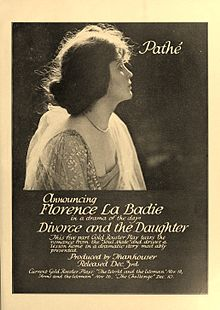 Advertisement for 1916 silent film Divorce and the Daughter.jpg