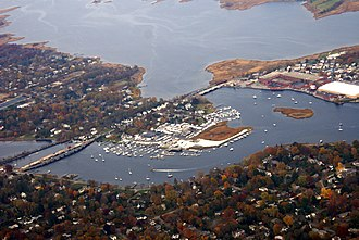 Barrington, Rhode Island - Aerial view of Barrington in 2008