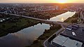 Aerial view of Karlova, Anne kanal and Sõpruse sild in Tartu, Estonia 2.jpg