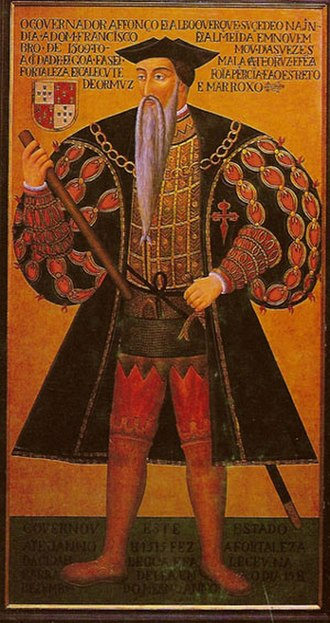 Military Order of Saint James of the Sword - Afonso de Albuquerque, Portuguese governor of the Indies (1509–1515), wearing a cloak with the cross of the Order of Santiago
