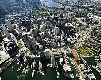 Rose Fitzgerald Kennedy Greenway - Image: After Aerial Photo of Greenway