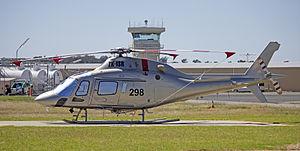 AgustaWestland AW119 Koala Ke (ZK-ISR) at the Wagga Wagga Airport heli-pad.jpg
