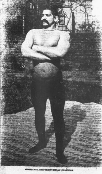 Imam Baksh Pahalwan - Ahmed Bux, Indian Wrestler (1912)