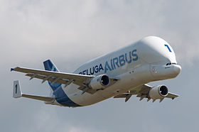 Un Airbus Beluga all'Airexpo 2014