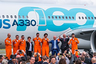 Airbus A330neo - The first flight crew.