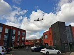 Aircraft approaching Manchester Airport.jpg