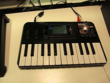 A MIDI controller for use with a smartphone