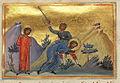 Akepsimas and Aithalas (Menologion of Basil II).jpg