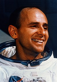 Alan Bean Al Bean during EVA training in the Flight Crew Support Building.jpg