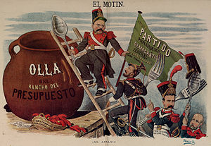 Corruption in Spain - A nineteenth century Spanish caricature satirizing political corruption