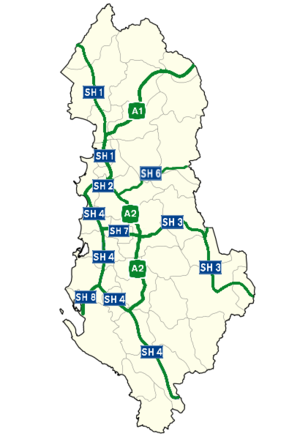Transport in Albania - Highway network in Albania