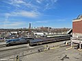 Albany-Rensselaer Rail Station - Downtown Skyline From Station 01.jpg