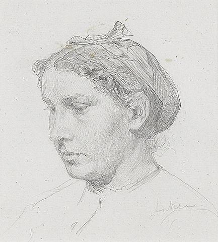 Anker bleistiftzeichnung  File:Albert Anker Porträt einer Frau Bleistiftzeichnung.jpg ...