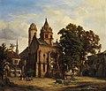 Albert Emil Kirchner Blick auf eine romanische Kirche.jpg