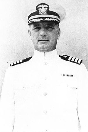 USS Houston (CA-30) - Captain Albert H. Rooks, commanding officer of Houston, c. 1940–1942.