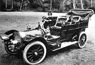 Delaunay-Belleville - Alexei Nikolaevich, Tsarevich of Russia in 1909