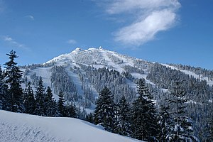 Klamath Mountains - Mount Ashland, the highest point of the Siskiyou Mountains