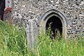 All Saints Church, Nazeing, Essex, England ~ door and stone from north.JPG