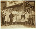 All are workers in the Ross Cannery, Seaford, Del. The smallest girl seen in the picture was at work 8 o'clock in the morning of the investigation and was seen the same night at 9 P.M. LOC nclc.00793.jpg