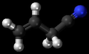Allyl cyanide - Image: Allyl cyanide 3D ball
