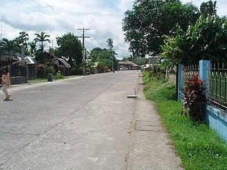 Javier, Leyte - Tandang Sora Street in Poblacion Zone-1