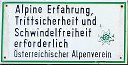 Alpenverein ÖAV-Tafel