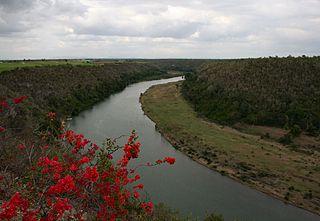 Chavón River watercourse in the Dominican Republic