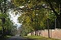 Am Lindener Berge, Blick in Richtung Badenstedter Straße und Benther Berg, rechts die denkmalgeschützte Mauer des Bergfriedhofs und der Abzweig Am Botanischen Garten.jpg