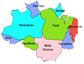 Amazônia Legal - States within Amazônia Legal.