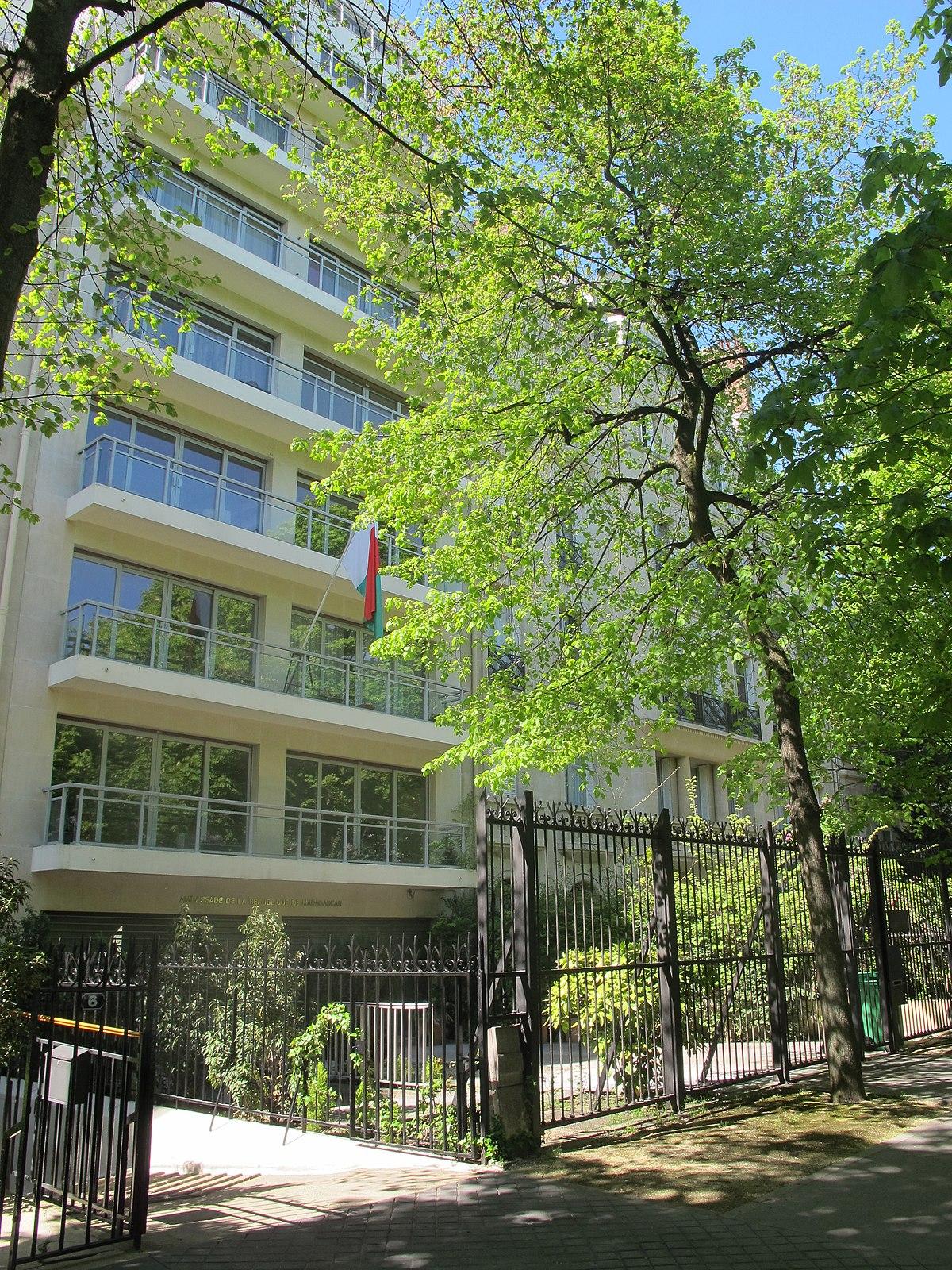 ambassade de madagascar en france  u2014 wikip u00e9dia