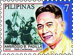 Ambrosio Padilla 2010 stamp of the Philippines.jpg