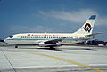 America West Airlines Boeing 737-25A; N222AW, August 1991 BYZ (4904923022).jpg