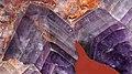 Amethyst formation in Jasper 2, cut stone, Cibousov jaspis (cropped).jpg