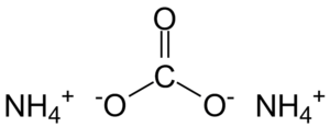 Ammonium carbonate - Image: Ammonium carbonate