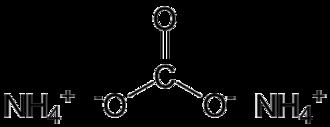 Ammonium carbonate - Image: Ammonium carbonate