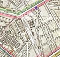 Amphithéâtre d'Astley on an 1814 map of Paris - U Chicago.jpg