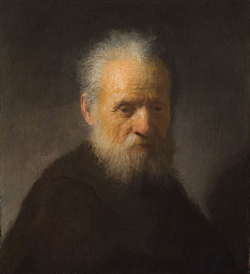 An old man with beard by Rembrandt van Rijn