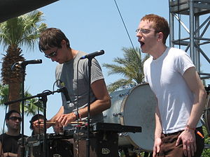 Anathallo - Andrew Dost and Jamie Macleod performing at Coachella in 2007