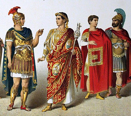 Example of higher class Roman men. Ancient Rome (cropped).JPG