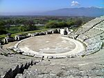 Ancient Theatre, built by Philip II in the 4th century BC and later reconstructed by the Romans, Philippi (7272297822)