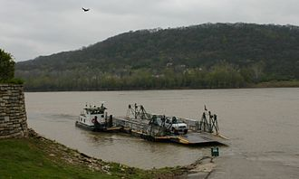 Delhi Township, Hamilton County, Ohio - The Anderson Ferry with the hills of Delhi in the background