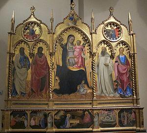 Andrea di Giusto - Andrea di Giusto, altarpiece with Madonna and Four Saints