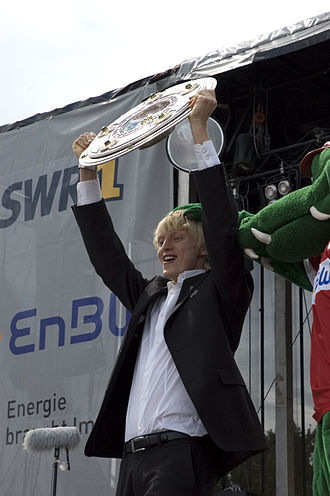 Andreas Beck (footballer) - Beck celebrates winning the Bundesliga with VfB Stuttgart in 2007