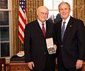 Andrew Marshall and George W Bush 20081210.jpg