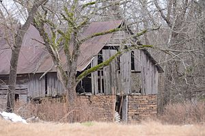 National Register of Historic Places listings in Logan County, Arkansas - Image: Anhalt Barn, Northwest View